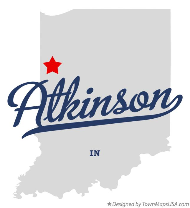 Map of Atkinson Indiana IN