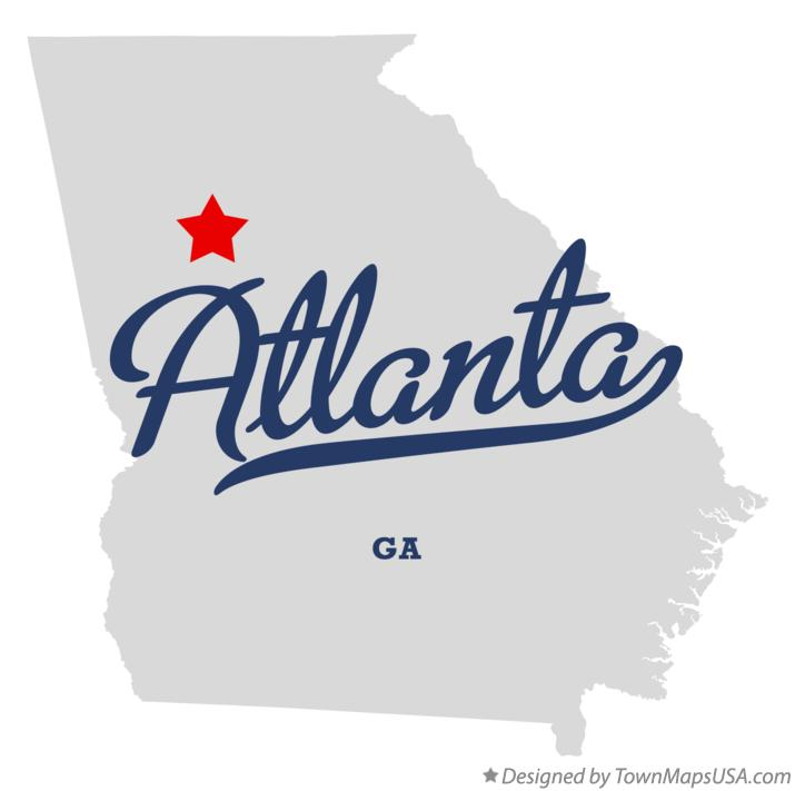 Map of Atlanta Georgia GA