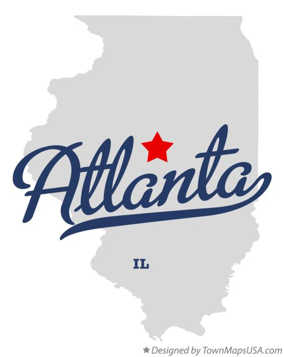 Map of Atlanta Illinois IL