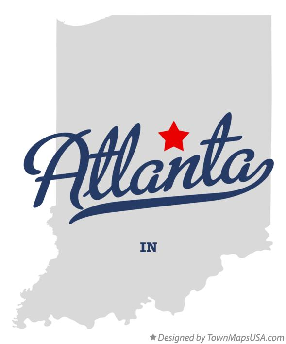 Atlanta Indiana Map.Map Of Atlanta In Indiana