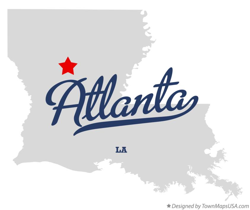 Map of Atlanta Louisiana LA