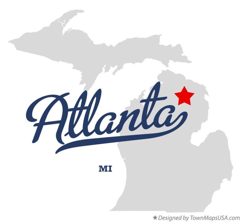 Atlanta Mi Map Map of Atlanta, MI, Michigan