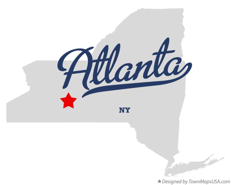 Map of Atlanta New York NY