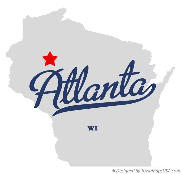Map of Atlanta Wisconsin WI