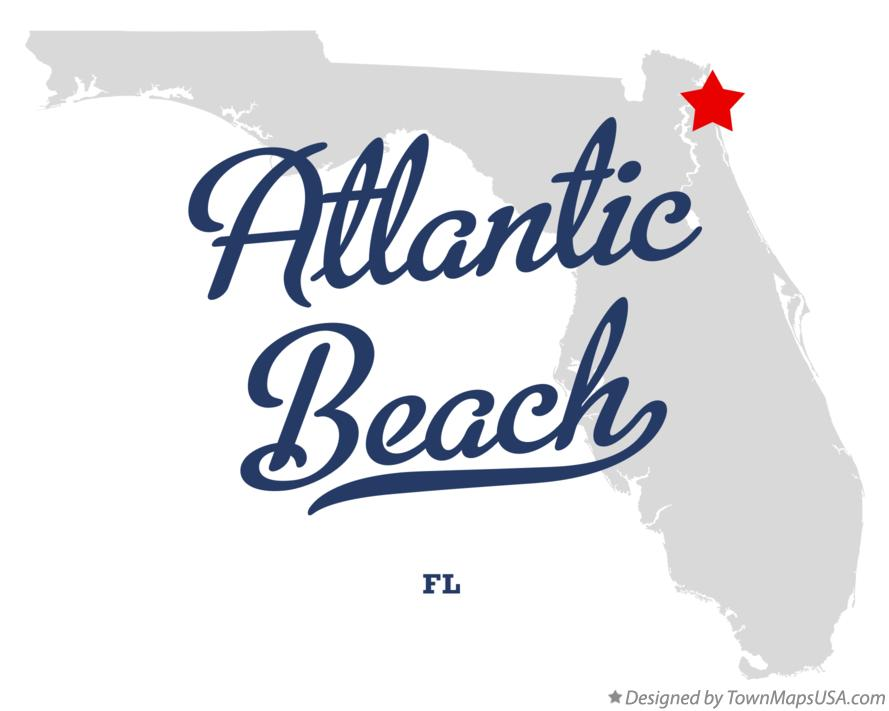 Map of Atlantic Beach Florida FL