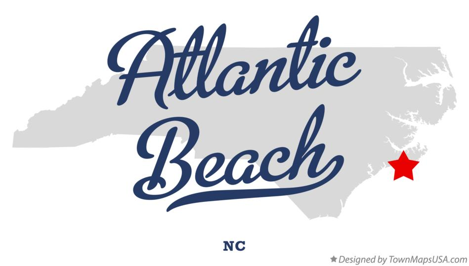 Map of Atlantic Beach North Carolina NC