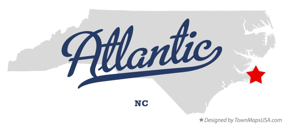 Map of Atlantic North Carolina NC