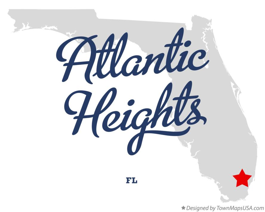 Map of Atlantic Heights Florida FL