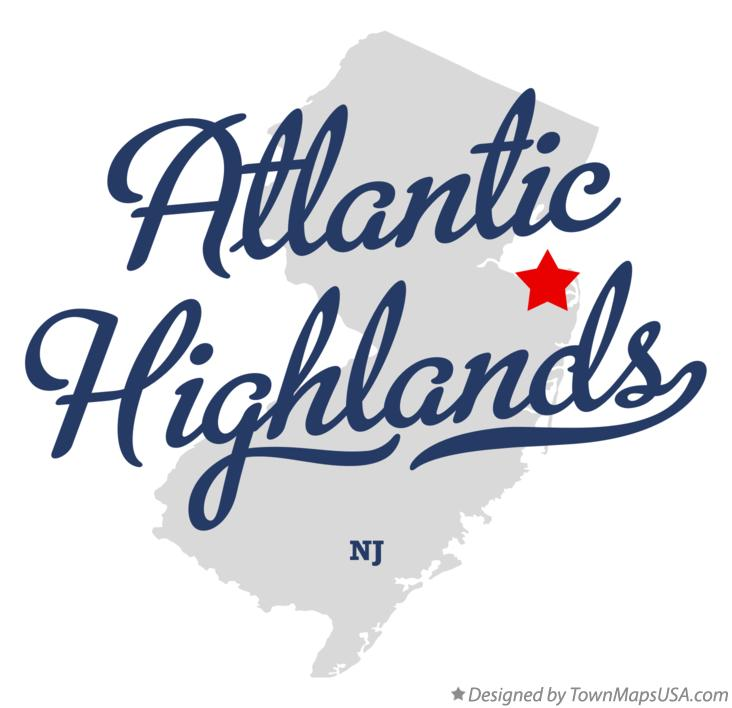 Map of Atlantic Highlands New Jersey NJ