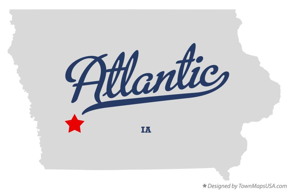 Map of Atlantic Iowa IA