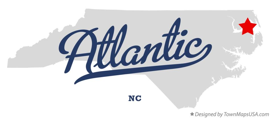 Map Of Atlantic Dare County Nc North Carolina