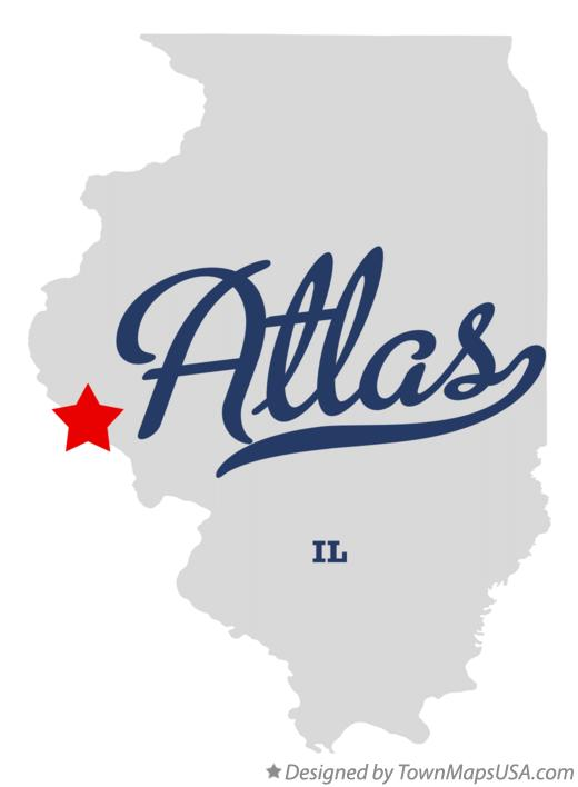 Map of Atlas Illinois IL
