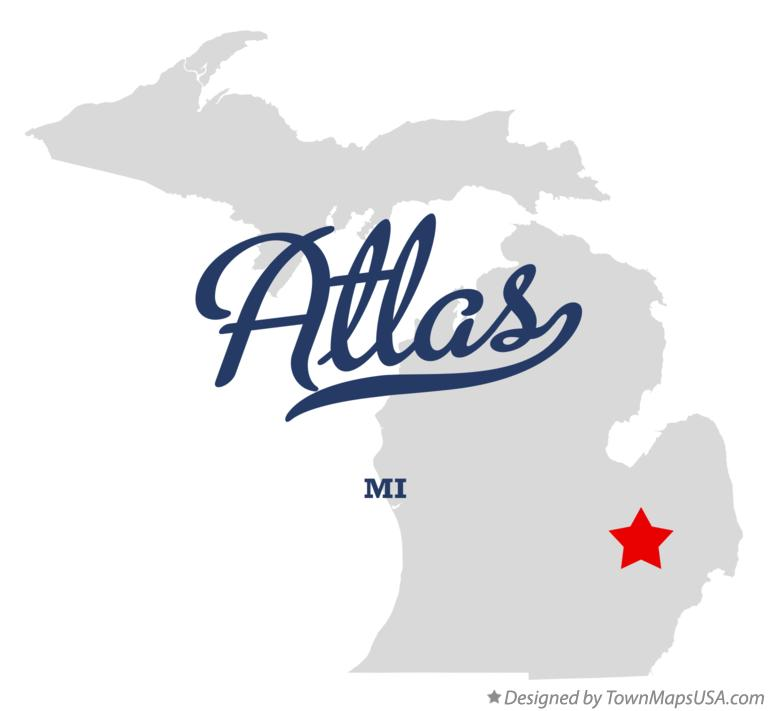 Map of Atlas Michigan MI