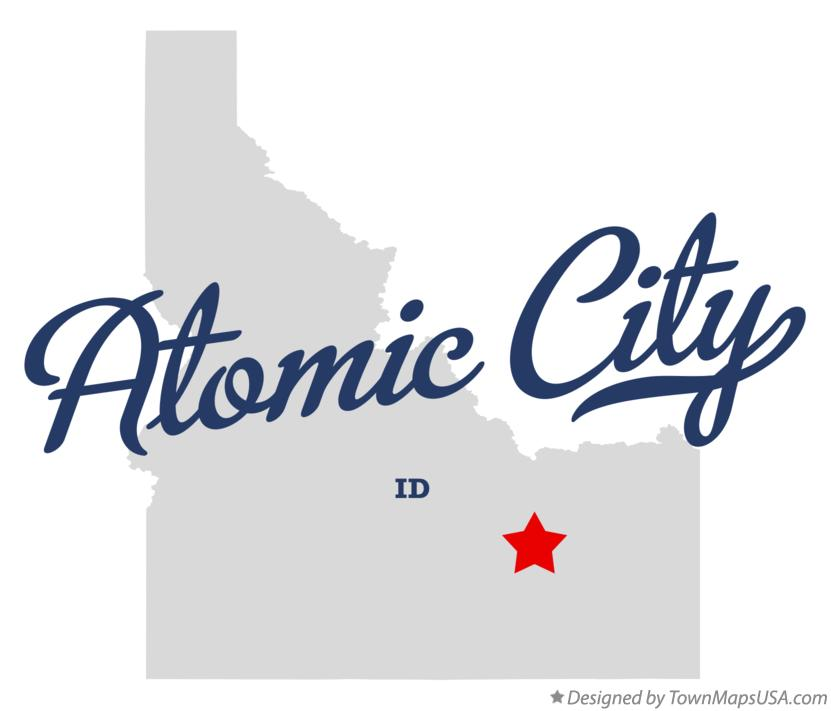 Map of Atomic City Idaho ID