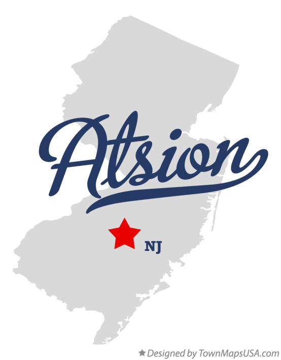 Map of Atsion New Jersey NJ
