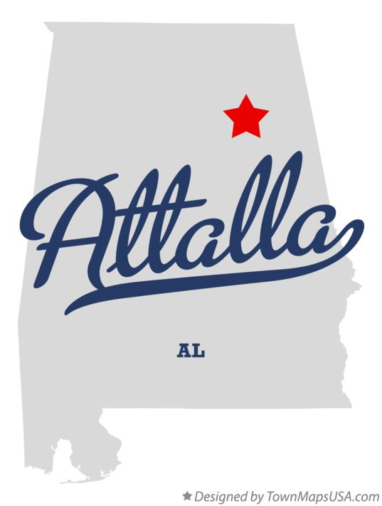 Map of Attalla Alabama AL