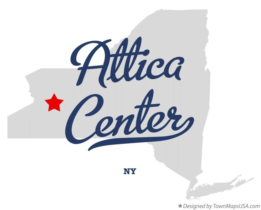 Map of Attica Center New York NY
