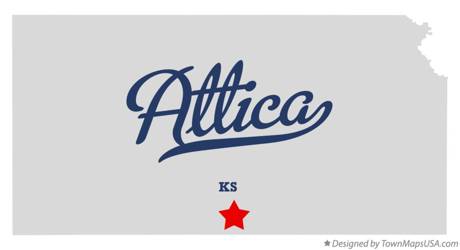 Map of Attica Kansas KS