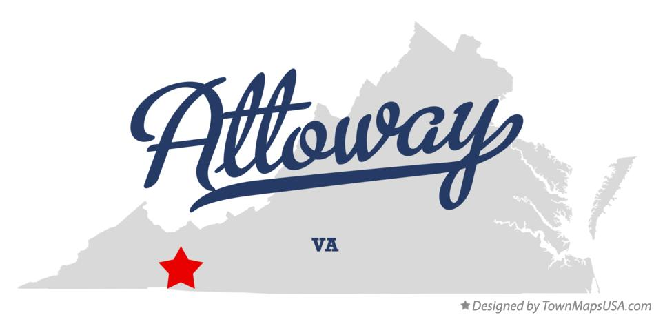 Map of Attoway Virginia VA