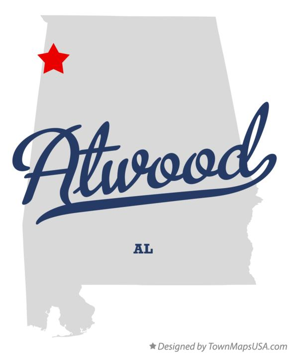 Map of Atwood Alabama AL