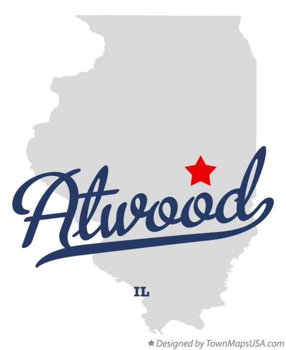 Map of Atwood Illinois IL