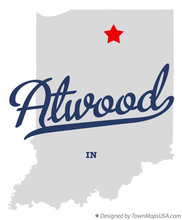 Map of Atwood Indiana IN