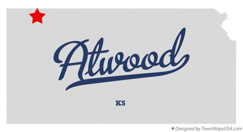 Map of Atwood Kansas KS