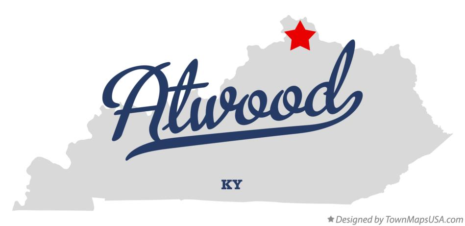 Map of Atwood Kentucky KY