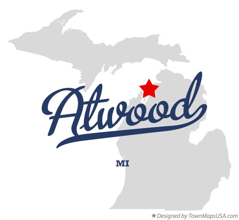 Map of Atwood Michigan MI