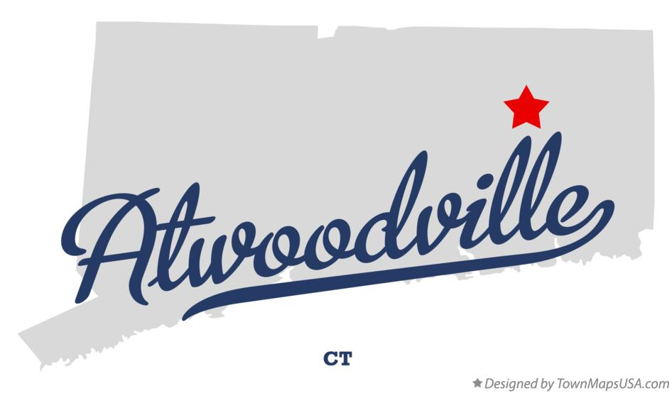 Map of Atwoodville Connecticut CT