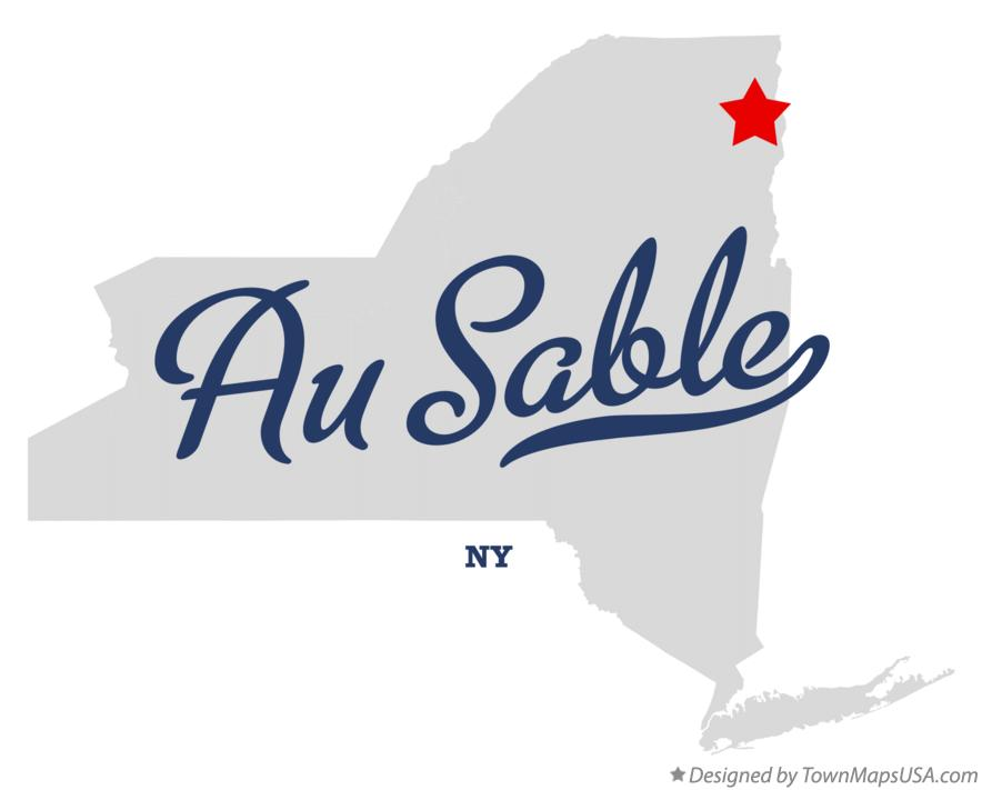 Map of Au Sable New York NY