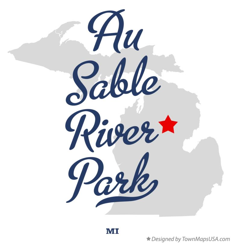 Map of Au Sable River Park Michigan MI