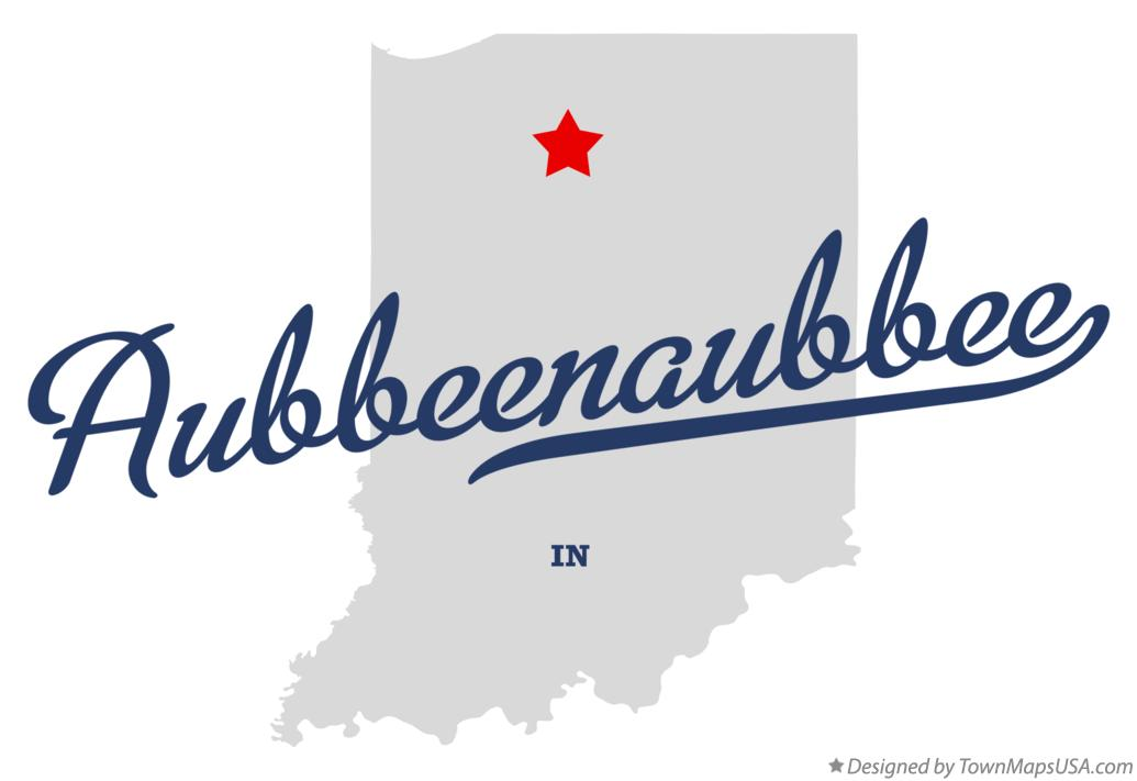 Map of Aubbeenaubbee Indiana IN