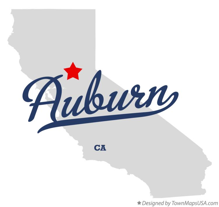 Map of Auburn California CA