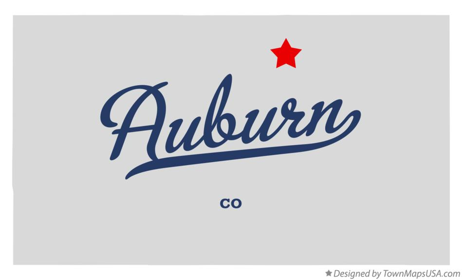 Map of Auburn Colorado CO