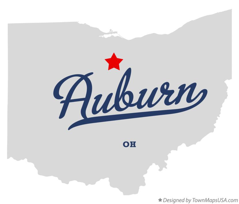 Map of Auburn Ohio OH