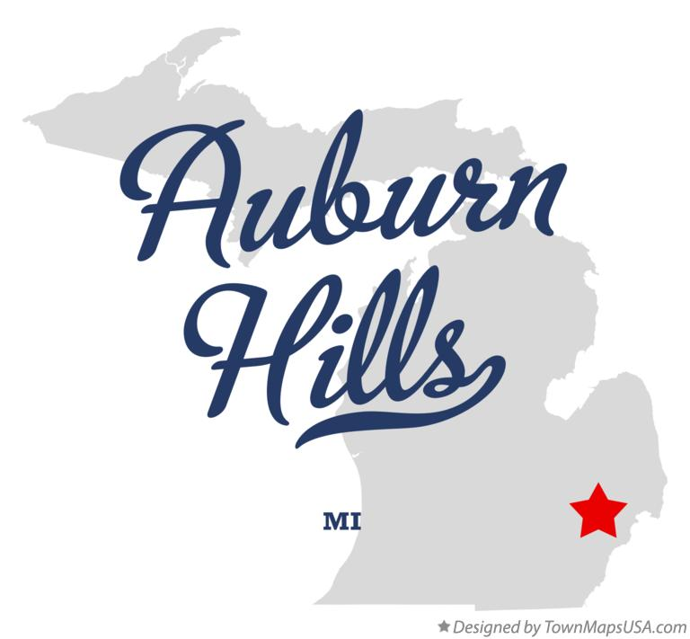 Map of Auburn Hills Michigan MI