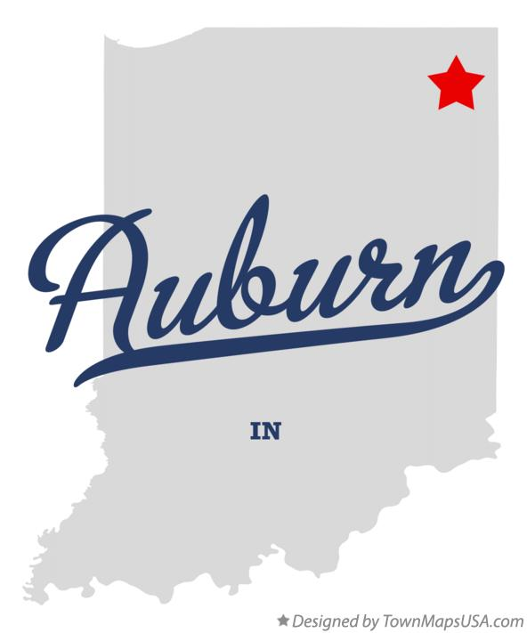 Map of Auburn Indiana IN