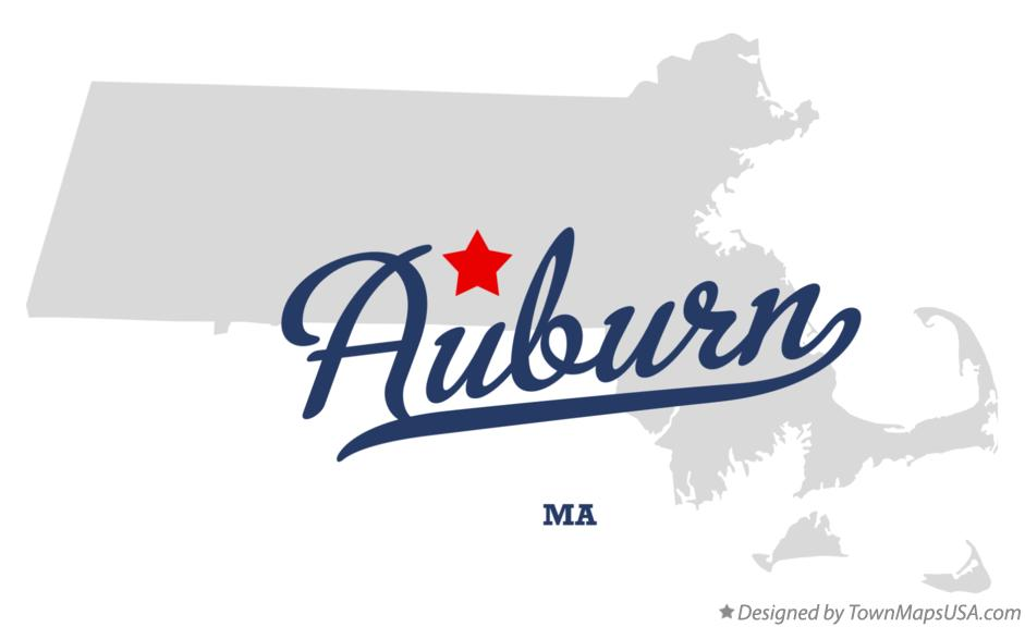 Map of Auburn Massachusetts MA