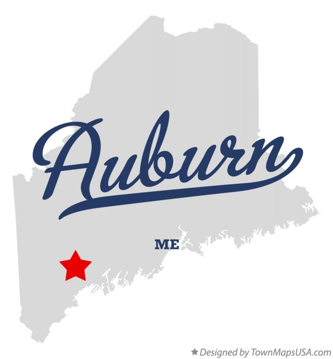 Map of Auburn Maine ME