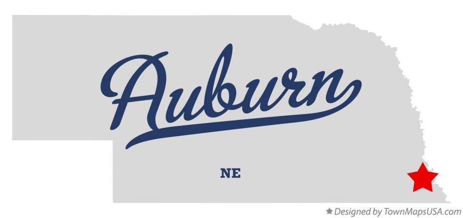 Map of Auburn Nebraska NE