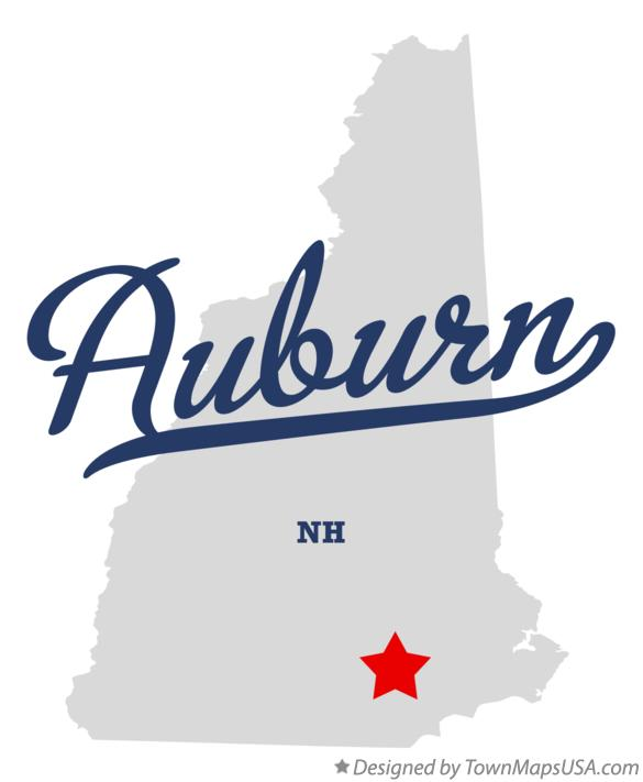 Map of Auburn New Hampshire NH