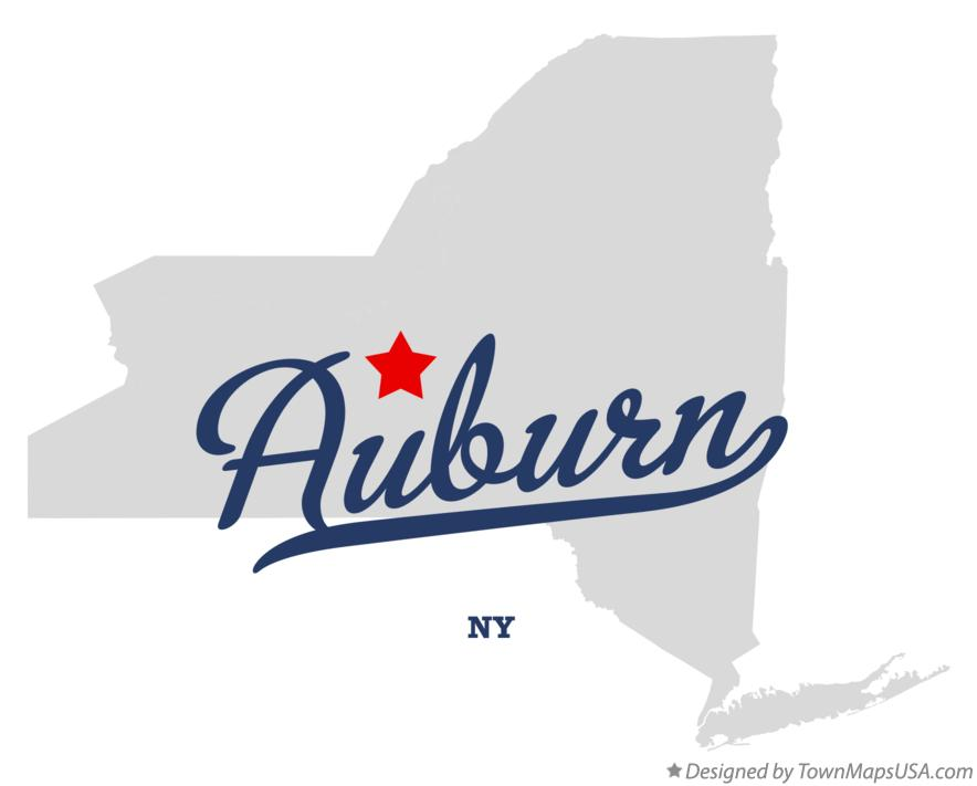 Map of Auburn New York NY