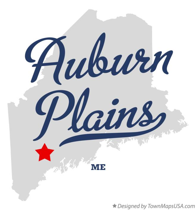 Map of Auburn Plains Maine ME