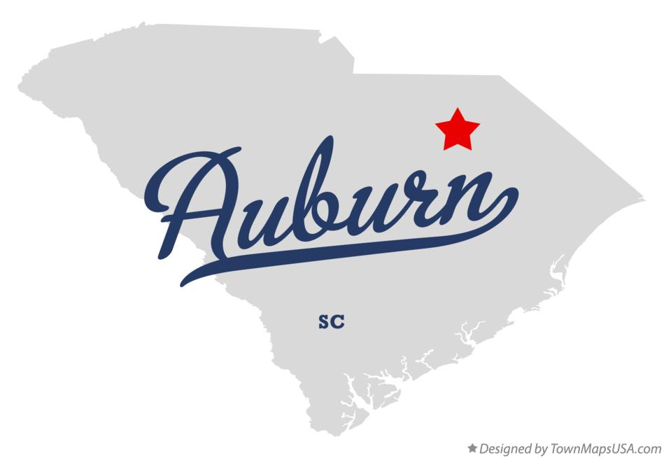 Map of Auburn South Carolina SC