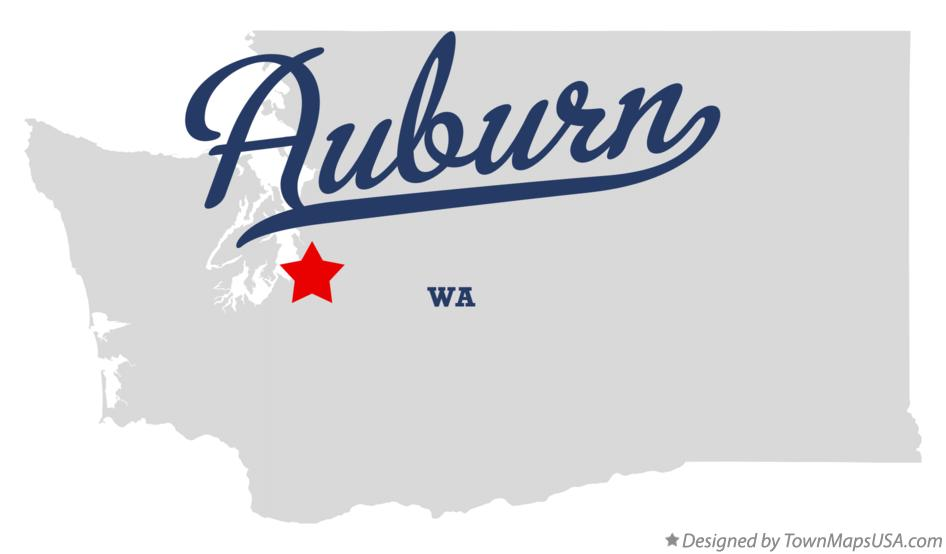 Map of Auburn Washington WA