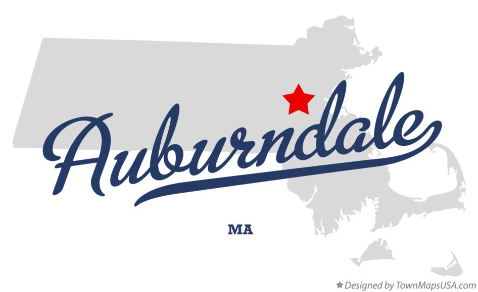 Map of Auburndale Massachusetts MA