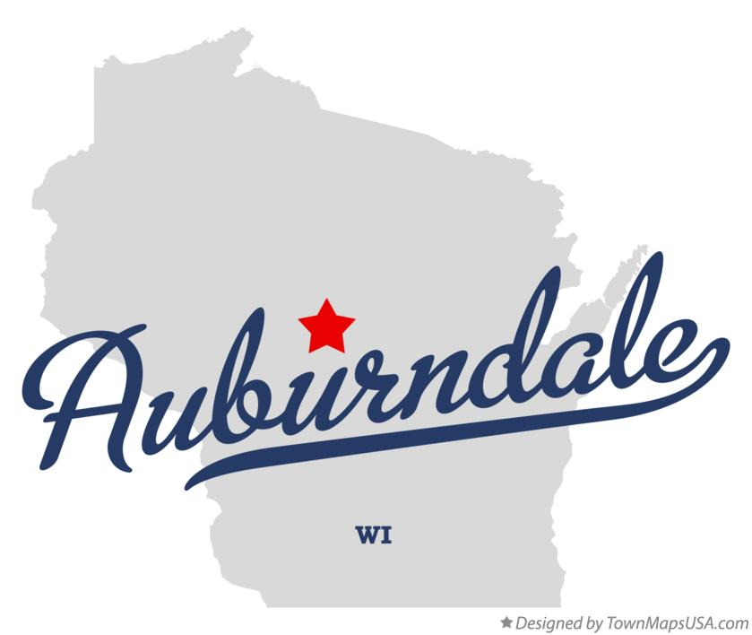 Map of Auburndale Wisconsin WI