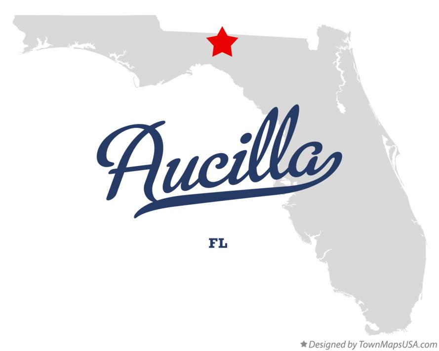 Map of Aucilla Florida FL