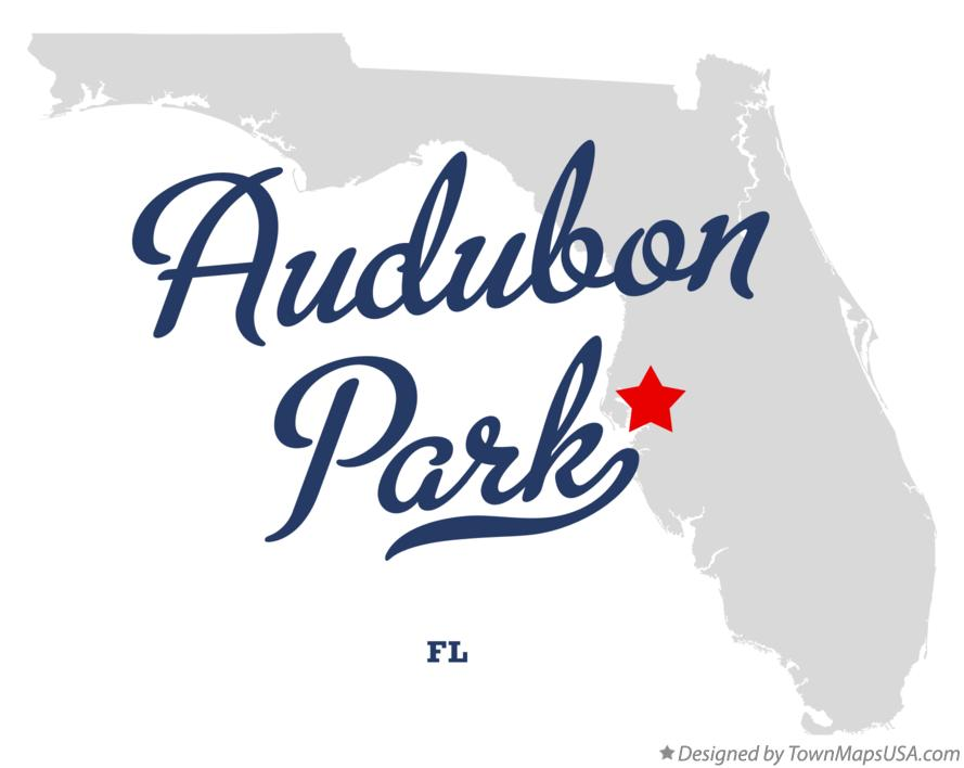Map of Audubon Park Florida FL